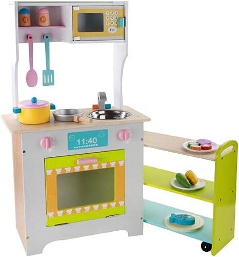 FLYSXP Combinaison Ustensiles De Cuisine en Bois Cuisinière Cuisine Jouets Maison Simulation Enfants Jouets éducatifs pour Enfants
