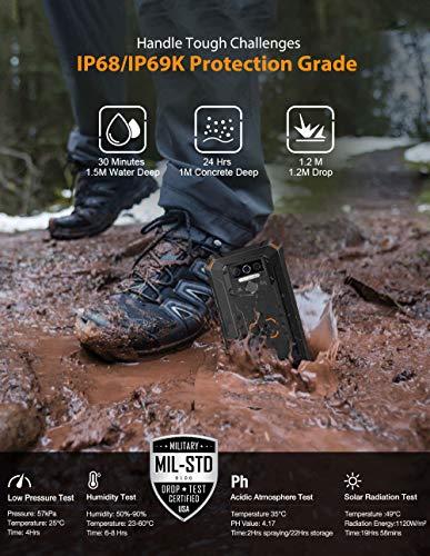 OUKITEL WP5 Rugged Cell Phone Unlocked, Android 10 Smartphone 8000mAh Battery IP68 Waterproof Rugged Smartphone, 5.5
