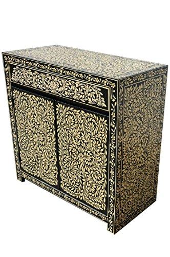 Marrakesch - Cómoda oriental, estilo oriental, pintado a mano, madera maciza, muebles asiáticos de la India