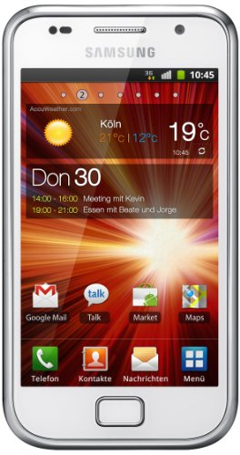 Samsung Galaxy S Plus I9001 Smartphone (10,16 cm (4 Zoll) Bildschirm, Touchscreen, 5 Megapixel Kamera, Android Betriebssystem) pure-white