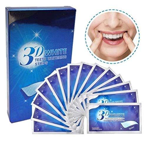 歯 濃密シートテープ 歯 美白3D 歯のホワイトニングストリップ 14セット 28枚入り 歯当て3D 歯に美白を貼る 歯に歯をはる シート 美歯はり ホワイト歯当て 黄色除去シート歯のクリーニングキット ナチュラルミントフレーバーが口をリフレッシュ (サイズ : 3 boxes(42pcs))