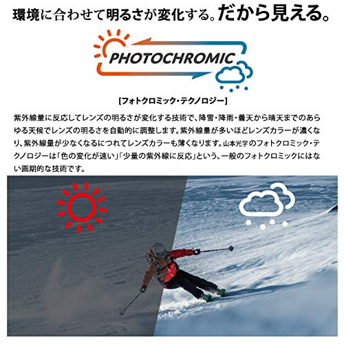 SWANS(スワンズ)スキースノーボードゴーグルくもり止めファン付きターボゴーグル紫外線で色が変わる調光偏光レンズHELICPDTBSHELI-C/PDTBS-N_MBKマットブラック/偏光トライアンバー調光