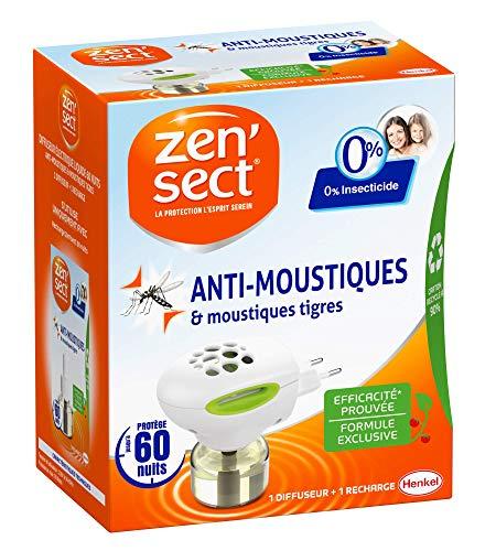 ZenSect Diffuseur Electrique Anti–Moustiques & Moustiques Ti