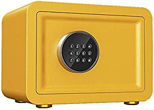 OFF Security Safe Box, Digital Safes Keypad Deposit Lock Safe Home & Office Safe for Document Money Jewelry (Color : Yellow)