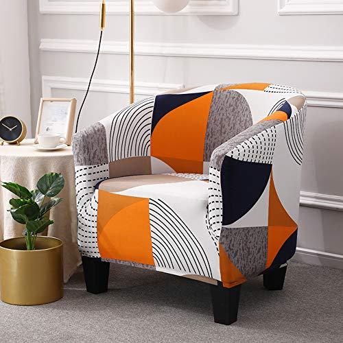 ele ELEOPTION Pokrowiec na krzesło klubowe z nadrukiem, stretch spandex zdejmowane pokrowce na krzesła wannowe pokrowce na fotele antypoślizgowe sofa pokrycie kanapy na barowy salon jadalnia recepcja