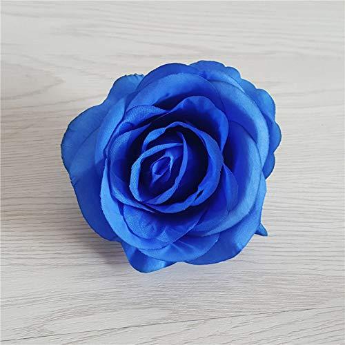 WANGWL 10pcs / Lot 8cm Künstliche Rosen Blumenkopf für Hochzeitsblume Wand Hintergrunddekoration DIY Hochzeit Auto Dekoration Gefälschte Blumen