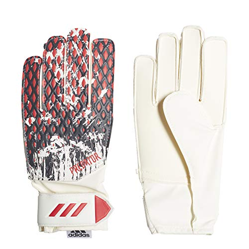 adidas Kinder Predator Training MNJ Torwarthandschuhe, White/Black/Active Red, 7