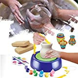 Haokanba Pottery Wheel for Adults Kids Beginners DIY Pottery Wheel, Craft Activity, Artist Studio, Ceramic Machine with Air-Dry Clay, Educational Toy for Kids Boy Girl (as Show)