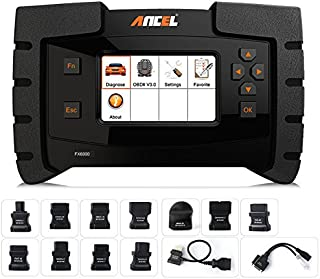 ANCEL FX6000 All System OBD2 Diagnostic Scan Tool with 11 OBD Connectors Automotive Code Scanner for Check Engine ABS SRS Transmission DPF TPMS EPB IMMO ECU Programming & Coding