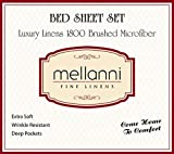 Mellanni Bed Sheet Set - Brushed Microfiber 1800 Bedding - Wrinkle, Fade, Stain Resistant - Hypoallergenic - 4 Piece (Queen, Gold)