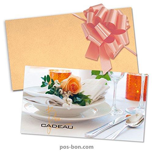 50 Bons cadeaux + 50 enveloppes + 50 noeuds rubans pour restaurants, bistrots, gastronomie G12022F