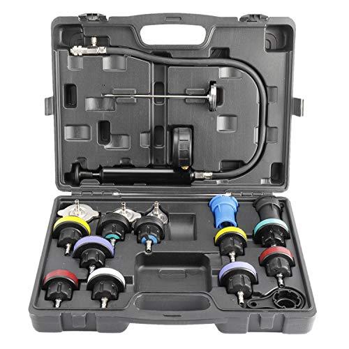 FreeTec 18-TLG Kühlsystemtester Kühlerabdrückgerät Kühler Druck Prüfung Abdrückgerät Kühlsystem Tester abdrücken Prüfgerät Wassertank Lecksucher Werkzeug