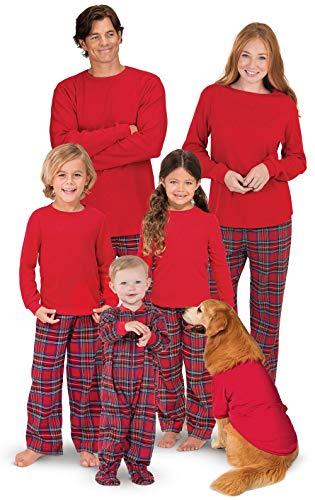 Famiglia Pigiama a Quadri Retro Tartan Style Tuta Natale Travestimenti Pajamas Set Xmas Sleepwear Costumi da Notte Due Pezzi Pantaloni e Felpa Girocollo Manica Lunga per Mamma papà Neonato Bambino