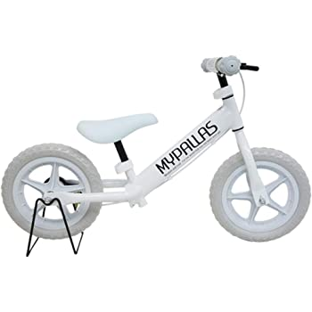 My Pallas(マイパラス) 子供用ペダルなし自転車 ちゃりんこマスター MC-02 ランニングバイク ブレーキ付き ホワイトグレー 【旅STYLE店 別注カラー】