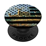 Big Buck American Flag Whitetail Deer Pop Socket - Hunting PopSockets PopGrip: Swappable Grip for Phones & Tablets