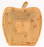 Zoie + Chloe All-Natural Bamboo Folding Collapsible Fruit Basket