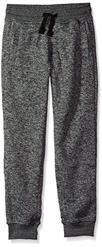 Southpole Boys' Big Jogger Fleece Pants Colors, Marled Grey(New/Logo Patch), Large