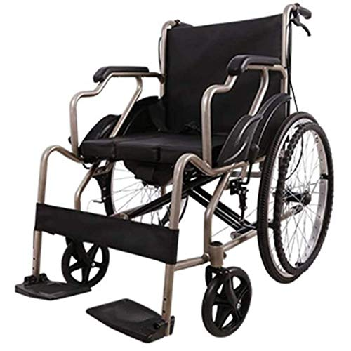 Wheelchair Folding Light, Portable Foldable Travel Self-propelled With Mobile Toilet Disabled/Elderly Trolley Scooter,portable