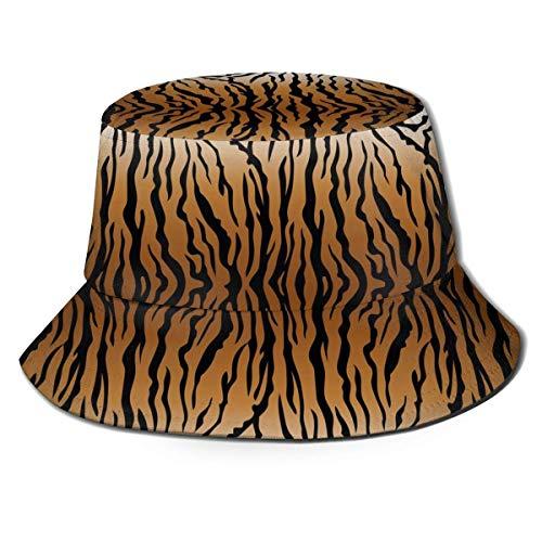 Bucket Hats Gorra para Exteriores con Visera Plegable de Tigre con diseño Animal para protección UV