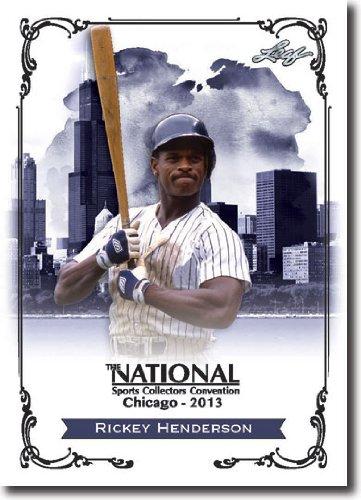 2013 Leaf National Redemption Exclusive NSCC Promo #RH1 Rickey Henderson - 2009 HOF (Baseball)(Athletics / Yankees )