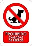 Oedim Señal PVC Prohibido Cagadas de Perro Tamaño A4...