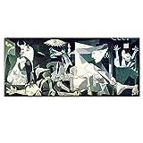 Picasso Guernica Peintures Art Célèbres Impression Affiche sur Toile Reproductions D'œuvres Art Tableau Salon Murale Décoration Contemporaine sans Cadre-24x48in_60x120cm