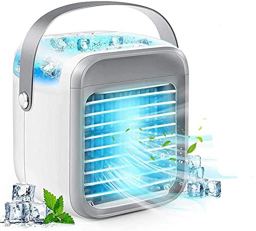 Tragbare AC - Wiederaufladbare Klimaanlage Wassergekühlte - Portable USB 2000mAh - Schnelle Kühlung in Sekunden 30 Just - Mini Persönliche Klimageräte + 10 STÜCKE Free Ice Werkzeuge machen