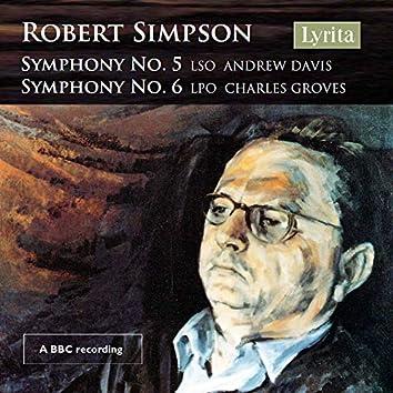 Simpson: Symphonies Nos. 5 & 6 (Live)