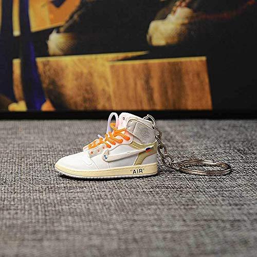 Jordan aj1 EIN Paar nackte Schuhe aj Schlüsselbund Basketballschuhe dreidimensionale Schuhform Tasche Anhänger handgefertigte Auto Schlüsselanhänger 11