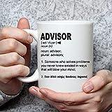 N\A Regalo de Asesor financiero Taza de café Divertida para Mujeres y Hombres Asesor Legal académico Agradecimiento Regalo Un Nombre Personalizado Café Taza de café Divertida
