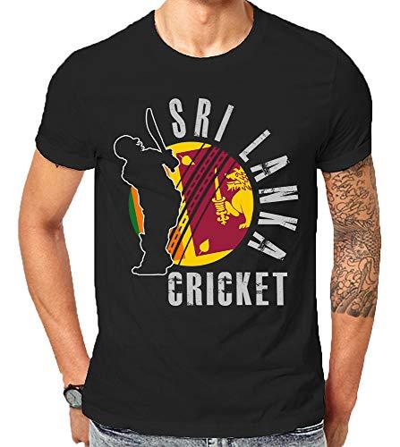 Sri Lanka Cricket World Teams Geschenk Supporter Tops T-Shirts Gr. XXL, Schwarz