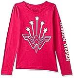 Wonder Woman By Kidsville Girl's Plain Regular fit T-Shirt (STY-18-19-002810 Pink 13-14 Years)