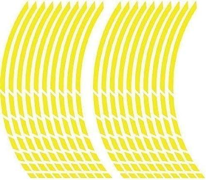 Jollify Neon Felgenrandaufkleber Neon Gelb Sport Freizeit