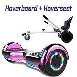 COLORWAY Hoverboard SUV 6.5 Pouces, ES09 Gyropode Tout-Terrain 700W, avec Roues LED Flash, Haut-Parleur Bluetooth et LED, Scooter Électrique Auto-équilibrage