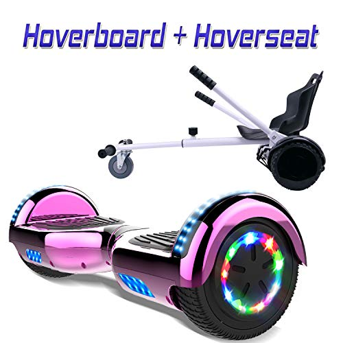 COLORWAY 6,5 Zoll Hover Scooter Board Hoverboard Elektro Scooter Smart Scooter Self Balance Board - Bluetooth - LED - EU Sicherheitsstandards + Hoverkart
