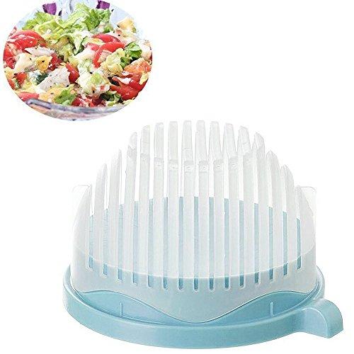 60 Sekunden Salatschneider 3-in-1 Salat Maker Salatschüssel Salatschleuder Schneidemaschine Gemüseschneider für Obst, Gemüse Salat