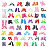 DoubleWood 50Pairs 11.5' Fashion Doll Shoes Replacement Different Assorted Colors High Heel Shoes Doll Boots Flat Shoes Set Replacement for 11.5 inch Doll