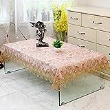 SAZDFY Mantel Bordado Rectángulo Cuadrado Mantel de impresión Floral para Mesa de Centro Cenas Cordón Crochet Redonda Manteles Telar -D 130x130cm(51x51)