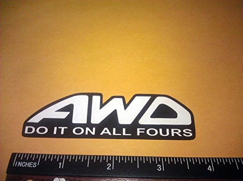 Own The Avenue AWD Do It on All Fours Vinyl Decal Sticker