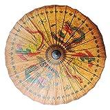 BESPORTBLE 1 Pieza de Sombrilla de Papel de Aceite Chino Parasol para Disfraces de Fotografía Cosplay (Patrones de Dragón Y Fénix)