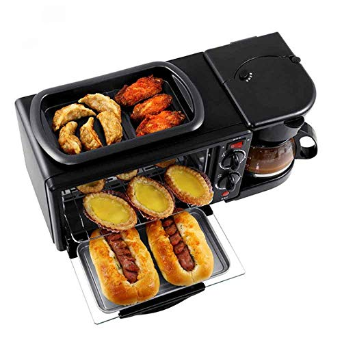 ZQYY® Four électrique Multifonction,Grille-pain,Machine à Café,Machine Trois en un Mini Machine à Petit-déjeuner1050W 9L