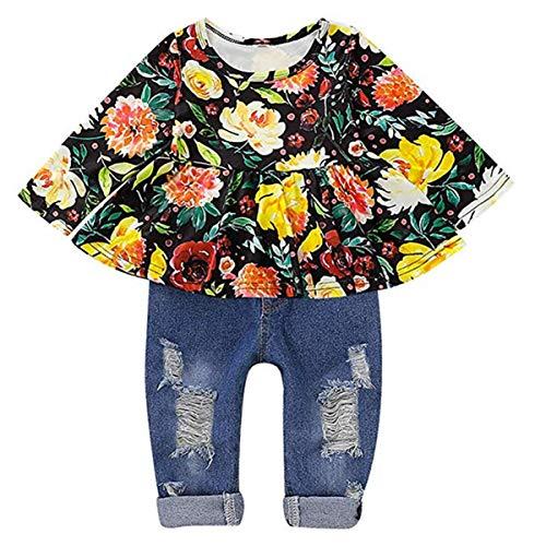 Pantalones Cortos Amarillos 2 Piezas Damohony Conjunto De Ropa Para Ninos Y Ninas De Manga Corta Con Diseno Floral Ropa Ninas De Hasta 24 Meses