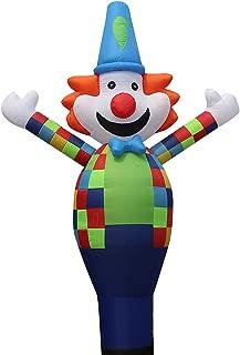 13ft 3D Air Sky Clown Inflatable Tube Sky Puppet Tube Man Dancer Air Puppet Wind Flying Dancer (Color Clown)