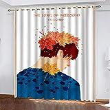 LOVEXOO 3D Impreso Moderno Cortina Canción Libre Cortinas Opacas de Salón Termicas Aislantes Frio Calor Reduccion Ruido Proteccion Intimidad 140x245cm(An x Al)