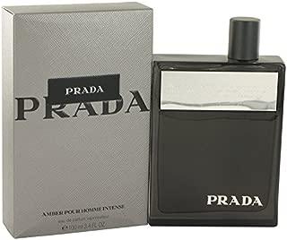 Prada Amber Pour Homme Intense by Prada Eau De Parfum Spray 3.4 oz -100% Authentic