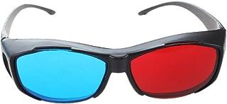 SODIAL(R) レッド-ブルー / シアンアナグリフシンプルスタイル 3Dメガネ3Dムービー ゲーム追加アップグレードスタイル(2個 異なるスタイル)