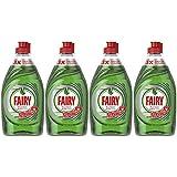 Fairy Platinum - Detersivo liquido per piatti, confezione da 4 flaconi da 383 ml, efficace contro il grasso ostinato