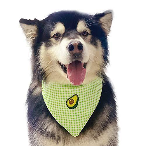 Springisso Triángulo Mascota Toalla Bordada Aguacate Impermeable De La Saliva De La Toalla De La Bufanda Práctica Ajustable Baberos Pañuelos para El Cuello Perros Y Gatos Pet Products,XL