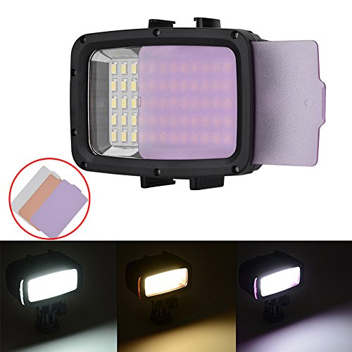 LED video Light duiklichten Dive Light 60 LEDs dimbaar waterdicht LED Video Light waterdicht 130ft (40m) voor Canon Nikon Pentax Panasonic Sony Samsung SLR camera's