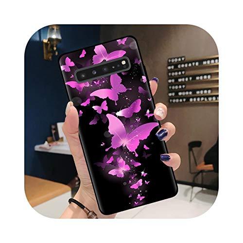 Phone Case - Carcasa para Samsung S20, diseño de mariposas simples, para Samsung S20 Ultra S10 S9 S8 Plus S10E S7 Carcasa de silicona para Samsung S8 Plus